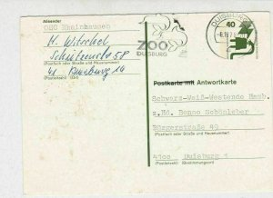 Germany 1978 Duisburg Zoo Dolphins Slogan Cancel Stamp Card Ref 29199