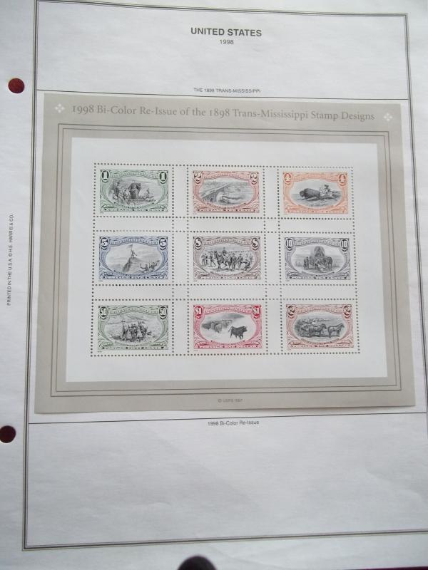 Trans-Mississippi Stamp Design sheet