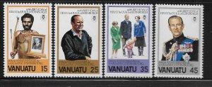 VANUATU, 304-318, MNH, DUKE OF EDINBURGH