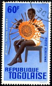 Art & Craft, Basket Maker, Togo stamp SC#C55 used