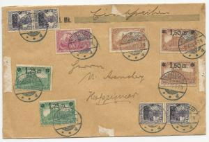Germany Mixed Franking Stamps on Cover July 9, 1920 Hofgeismar