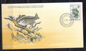 Montserrat FDC card Sc 452 Cousteau Society Parrotfish  L73