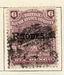 Rhodesia 1909 Early Issue Fine Used 6d. Optd NW-11493