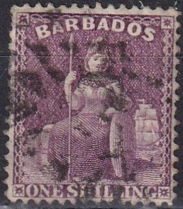Barbados #56  F-VF Used CV $9.25 (Z2454)