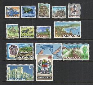 Tanzania #5-18 comp mnh cv $23.95 Animals Fish