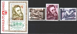 Bulgaria. 1975. 2387-89, bl56. 500 years of Michelangelo sculpture. USED.