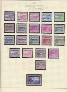 BANGLADESH, 1971 selection of local overprints, mnh.