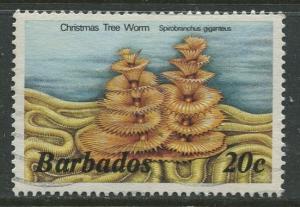Barbados -Scott 645 -  Marine Life Issue - 1985-86 - FU - Single 20c Stamps