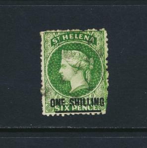 ST HELENA 1868, 1sh TYPE B, VF USED SG#18 CAT£130 $170 (SEE BELOW)