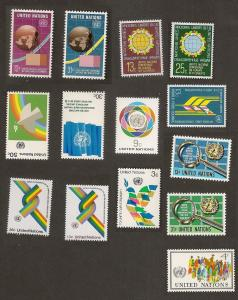 United Nations 267-280 New York year set (14 stamps) MNH 1976