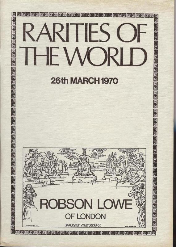 Robson Lowe: Sale # 3331  -  Rarities of the World, Robso...