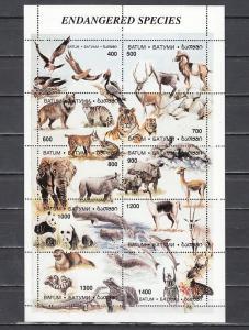 Batum, 262-271 Cinderella issue. Endangered Species sheet of 10.
