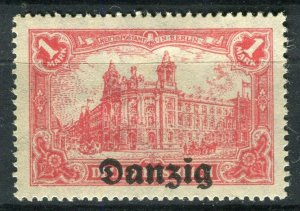 GERMANY; DANZIG 1920 June early Germania Optd. issue Mint hinged 1M. value