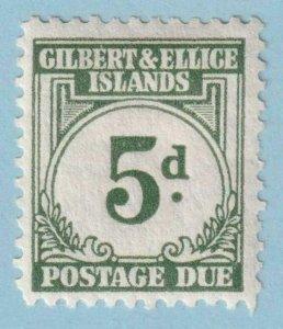 GILBERT & ELLICE ISLANDS J5 POSTAGE DUE  MINT HINGED OG * NO FAULTS EXTRA FINE!