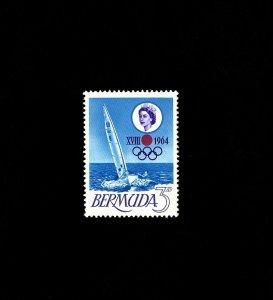 BERMUDA - 1964 - QE II - OLYMPICS - TOKYO - FINN BOAT - MINT - MNH SINGLE!