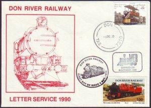 DON RIVER RAILWAY (TASMANIA) - 1990 LETTER SERVICE COVER - CINDERELLA (RU5271)