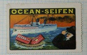 Ocean Soaps Ship Seaman German Brand Poster Stamps Ads