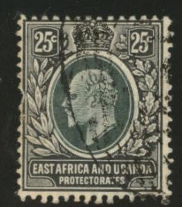 East Africa & Uganda protectorates  Scott 37 KEVII 1907 used