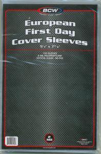 COVER SLEEVES - European FDC (5 1/8 X 7 13/16)-100ea (CVB09