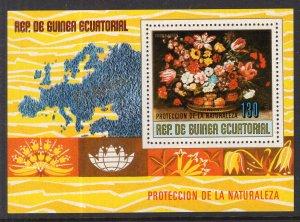 Equatorial Guinea North American Flowers Souvenir Sheet MNH VF