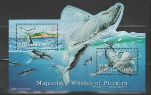 PITCAIRN ISLANDS Queen Elizabeth Era 2006 Humpback Whales MS