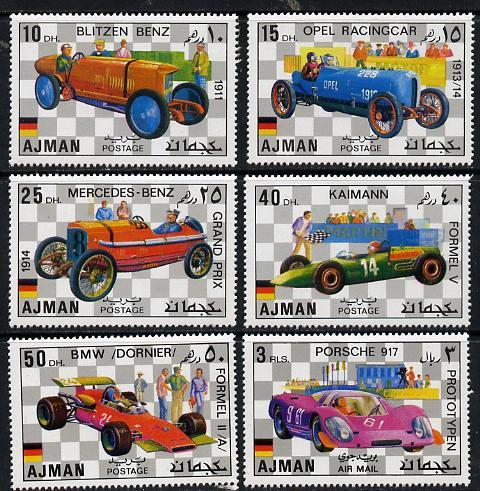 Ajman MNH 1117-22 German Racing Cars 1971