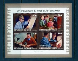 NIGER 2018 95th ANNIVERSARY OF THE WALT DISNEY COMPANY  SHEET  MINT NH