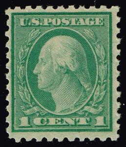 US STAMP # 543 1c green Washington 1921 MNH/OG