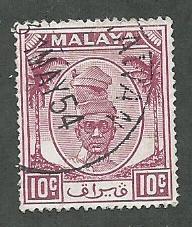 Malaya, Perak Scott 111 Used