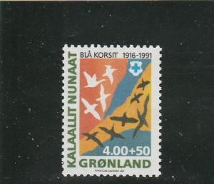 Greenland  Scott#  B15  MNH  (1991 Blue Cross)