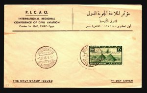 Egypt 1946 Airmail Series First Day Cover - Z16922