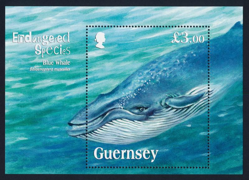 Guernsey 1124 MNH Blue Whale, Endangered Species