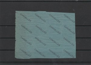 Cancelled Stamp Paper Part Sheet ref 21892