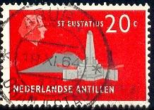 De Ruyter Obelisk, St. Eustatius Netherlands Antilles SC#248