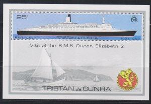 Tristan da Cunha,  25p RMS QE 2 (SC# 259) MNH SS