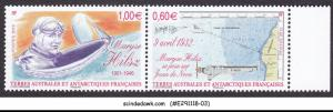 FRENCH TERRITORY IN ANTARCTIC 2012 MARYSE HILSZ /AVIATOR / AVAITION 2V MNH