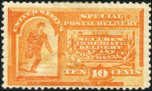 1893 US Stamp #E3 Perf 12 Mint OG Special Delivery Catalogue Value $300