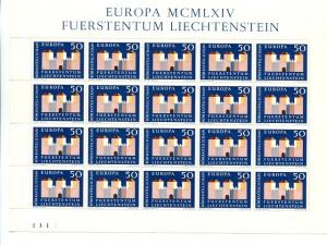 Liechtenstein  1963  Europa mini sheet  Mint VF  NH