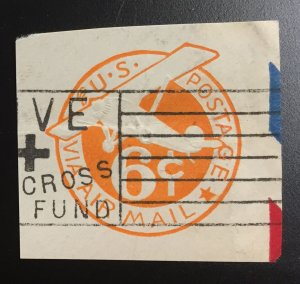 US #UC3 Envelope Cutout Airmail 6c (6.5mm)