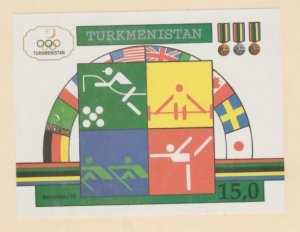 Turkmenistan Scott #23 Stamps - Mint NH Souvenir Sheet
