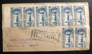 1947 Pitcairn Island Souvenir Cover Victory Stamp To Montreal Canada