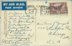67708 - CANADA  - POSTAL HISTORY - postmark on POSTCARD : SWIMMING Life Saving