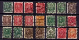 Lot 21 EA Sc 104-109 Canada Early 1911-1935 KGV with Others F-VF