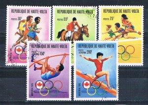 Burkina Faso 390-92;C231-32 Used set Olympics 1976 (MV0228)