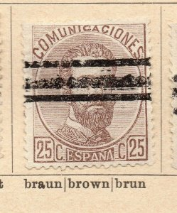 Spain 1872-73 Early Issue Fine Used 25c. NW-16573