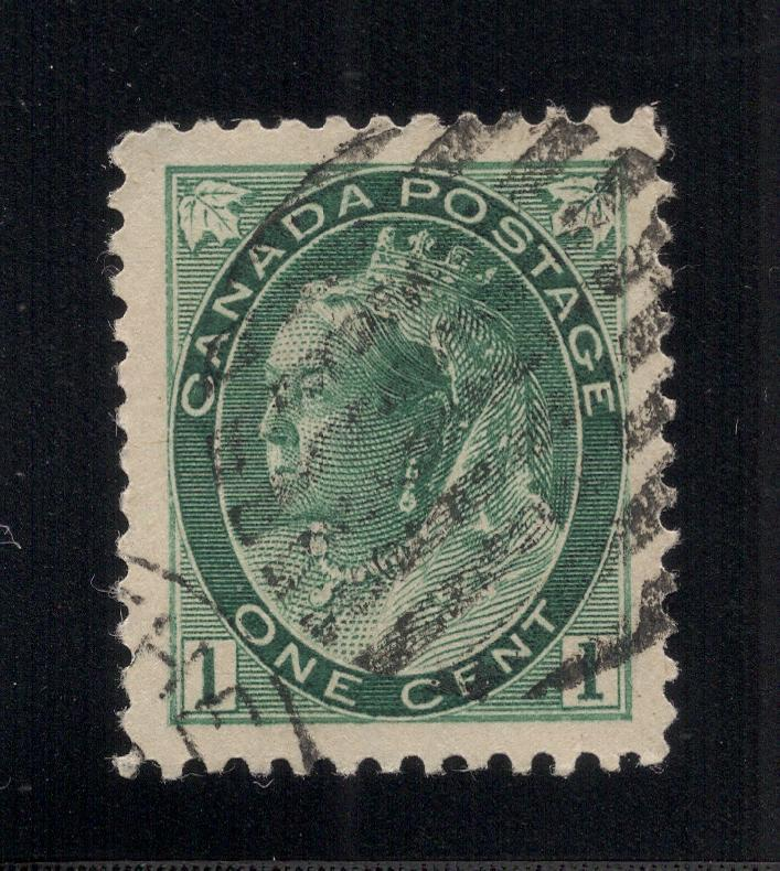 Canada #75 Gray Green - 1 Cent - Used
