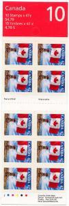 Canada - 2000 47c Self-Adhesive Flag Booklet #BK236b