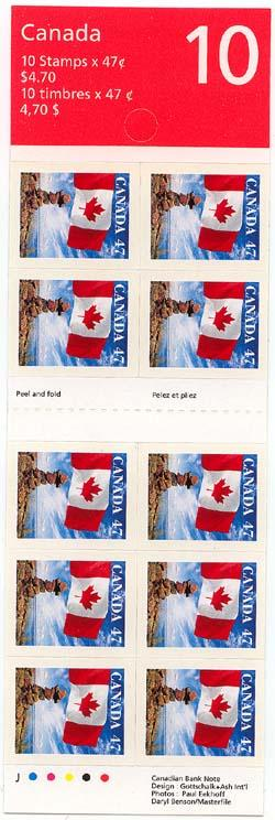 Canada - 2000 47c Self-Adhesive Flag Booklet #BK236b