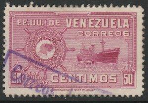 Venezuela 1948-50 50c used South America A4P53F63