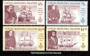 Cocos Islands Scott 218-221 Mint never hinged.